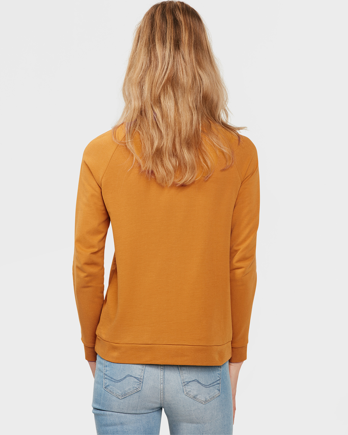 ... DAMES GOLD SWEATER Mosterdgeel ... 9f1ab9547