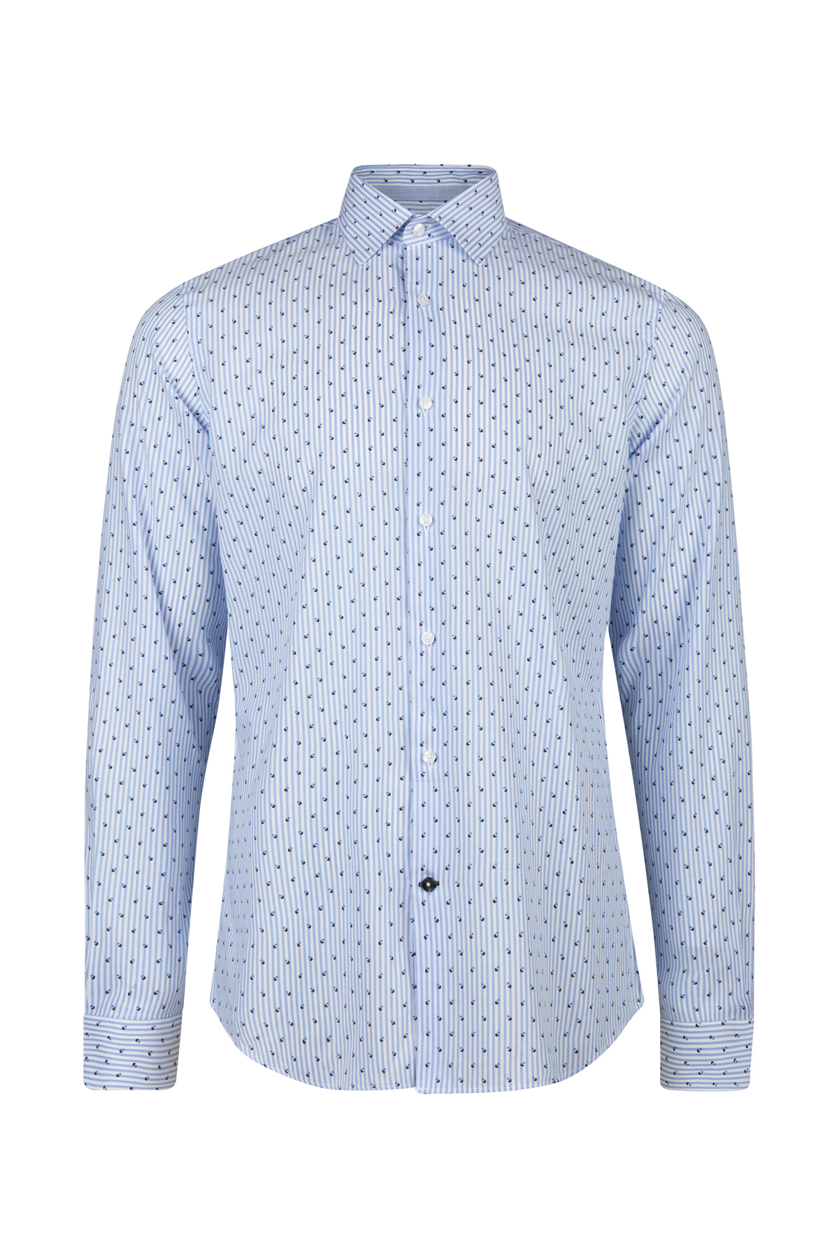 Overhemd Blauw.Heren Slim Fit Gestreept Overhemd 93801478 We Fashion
