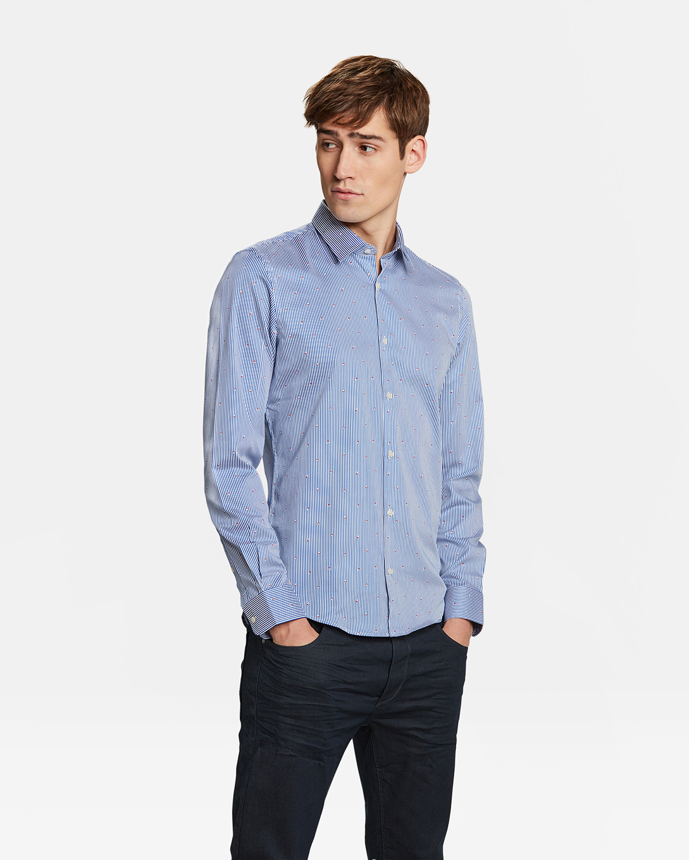 Het Overhemd.Heren Slim Fit Gestreept Overhemd 92375581 We Fashion