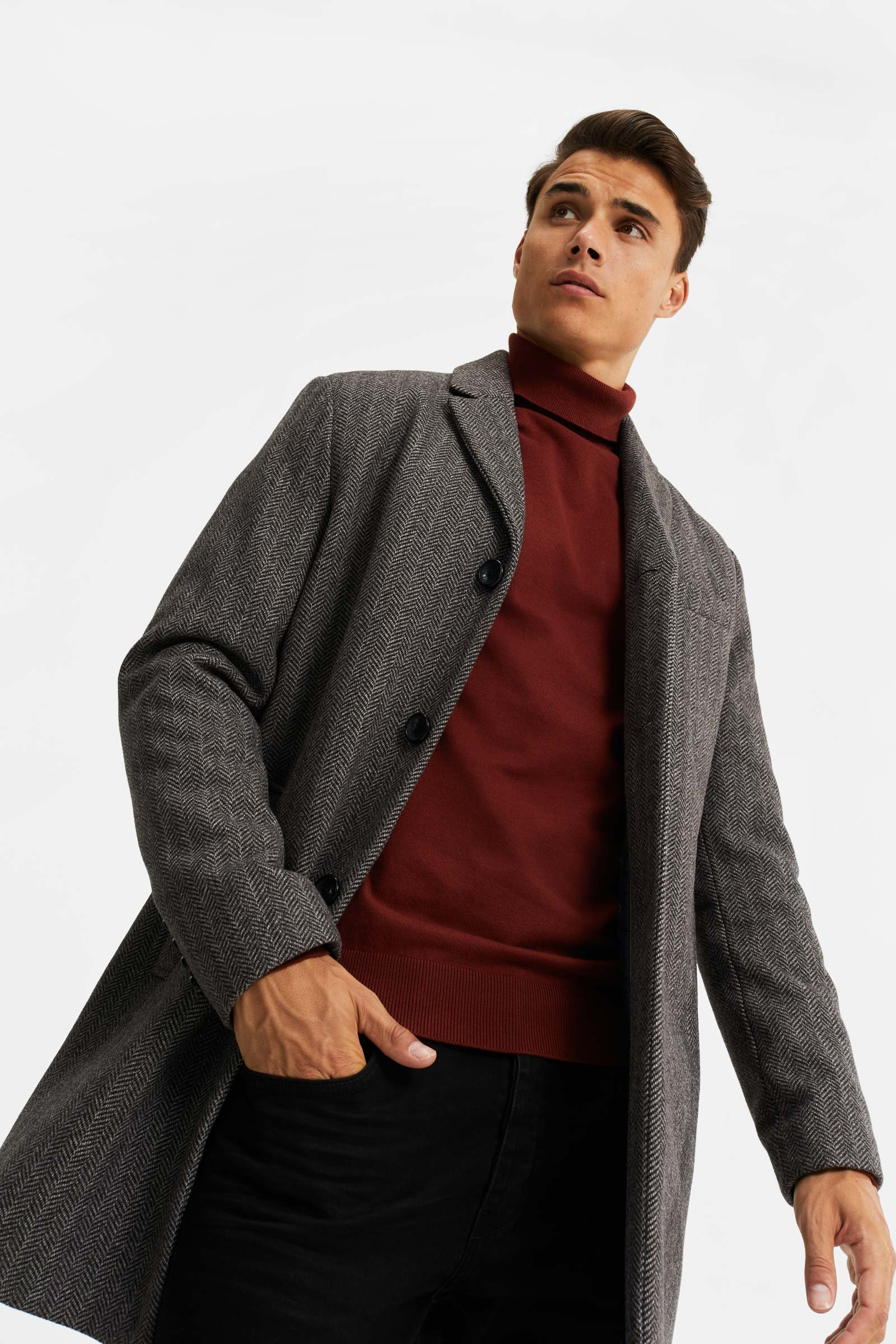 Heren overjas | 95458076 WE Fashion