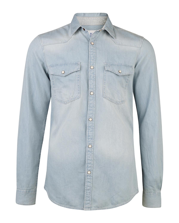 Jeans Overhemd Heren.Heren Slim Fit Denim Overhemd 78651982 We Fashion