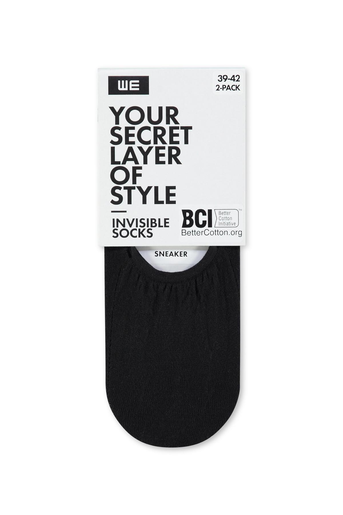 Dames Invisible sokken 2 pack | 94645781 WE Fashion