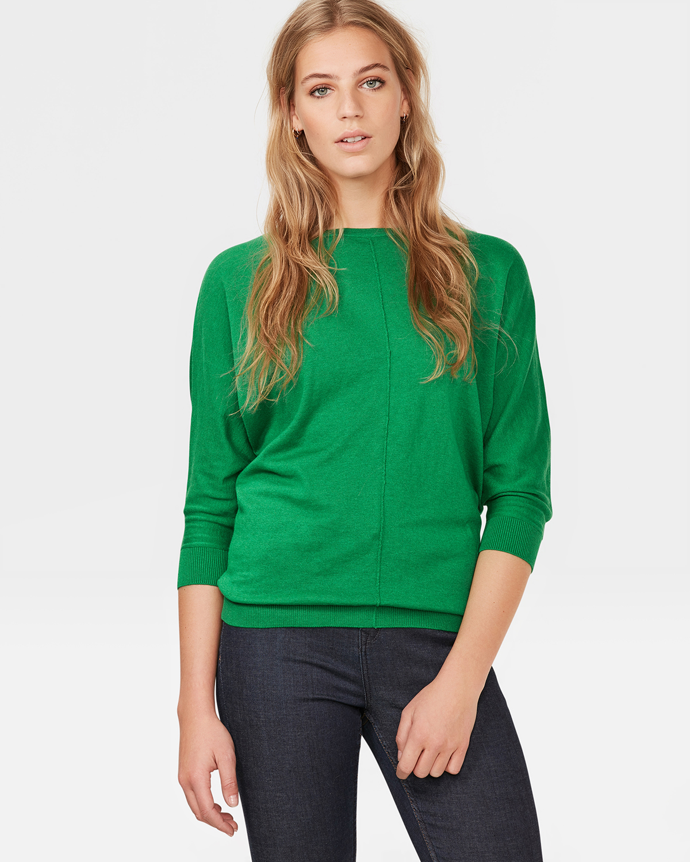 Groene Dames Trui.Dames Oversized Knit Trui 79598422 We Fashion