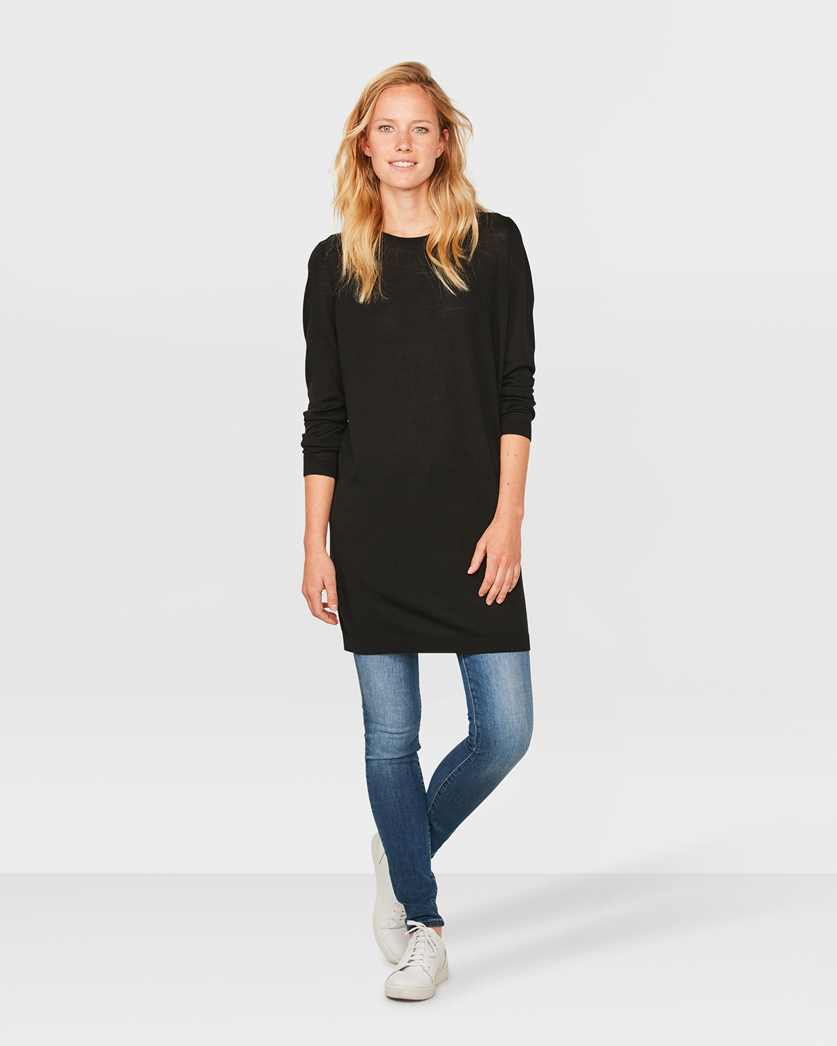 Jurk Trui.Dames Merino Wol Knit Jurk 79963879 We Fashion