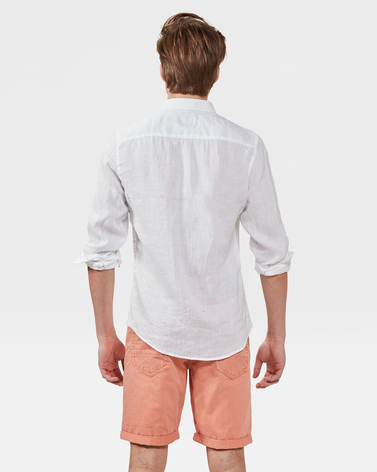 Korte Broek Linnen Heren.Heren Linen Slim Fit Overhemd 79218863 We Fashion