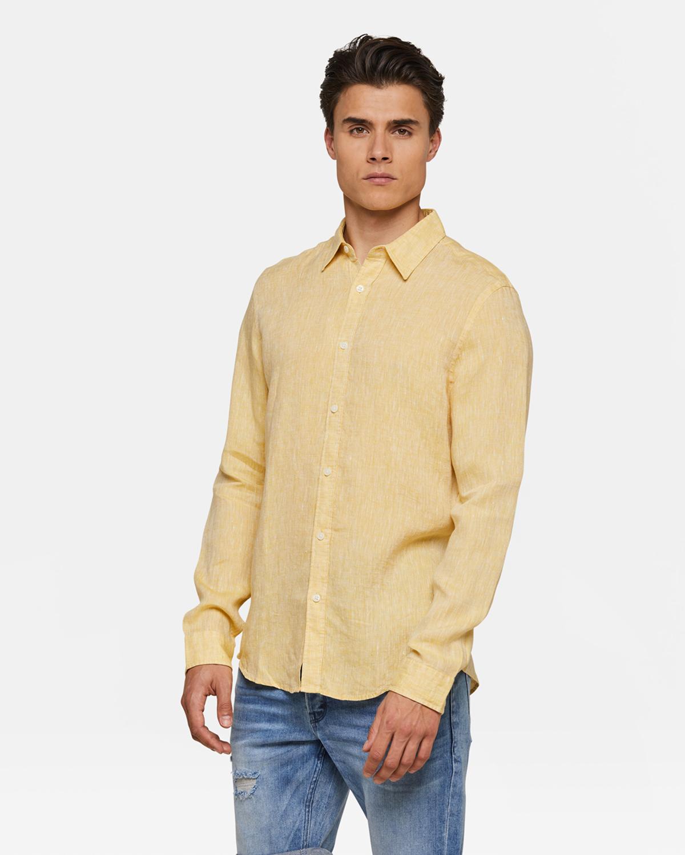Geel Overhemd Heren.Heren Slim Fit Linnen Overhemd 94433692 We Fashion