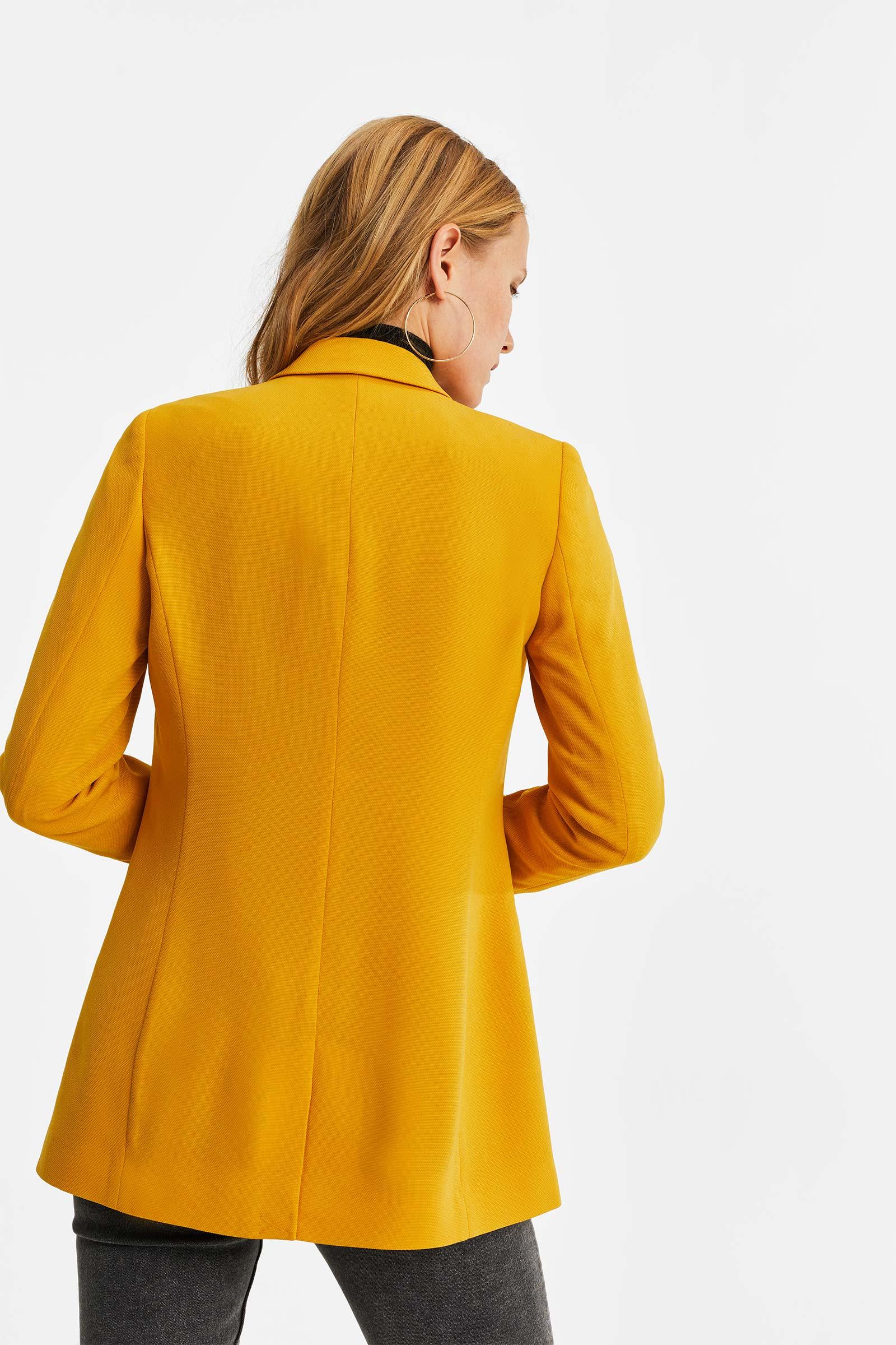Dames regular fit blazer met structuur | 95445328 WE Fashion