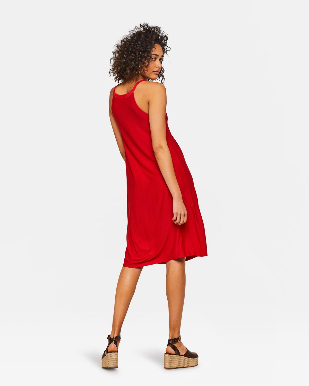 499b37af3ec88b Dames jurk Rood