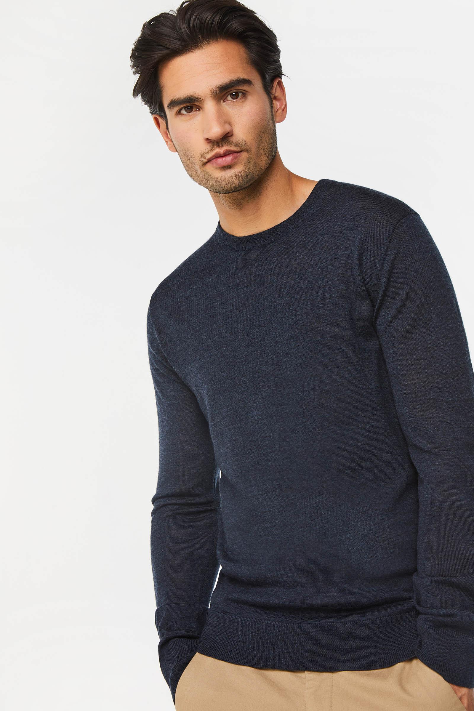 Heren merinowollen trui | 94727654 WE Fashion