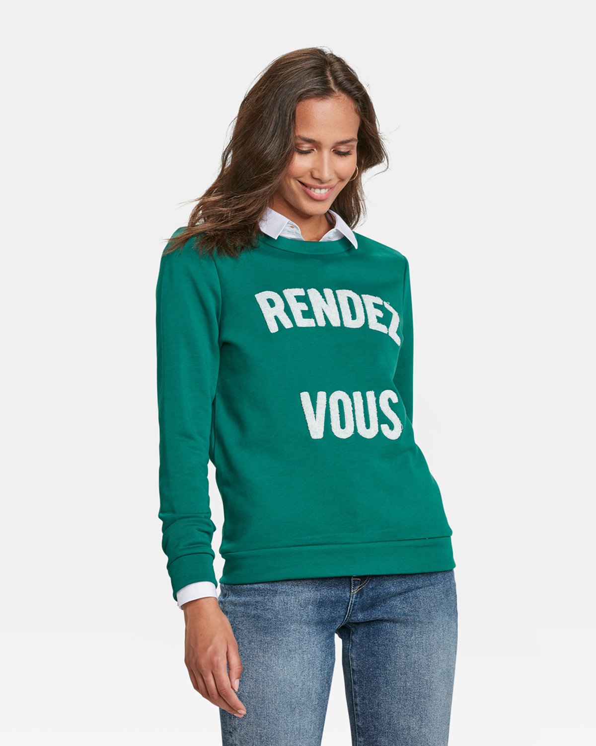 Legergroene Trui Dames.Dames Rendez Vous Sweater 89584804 We Fashion