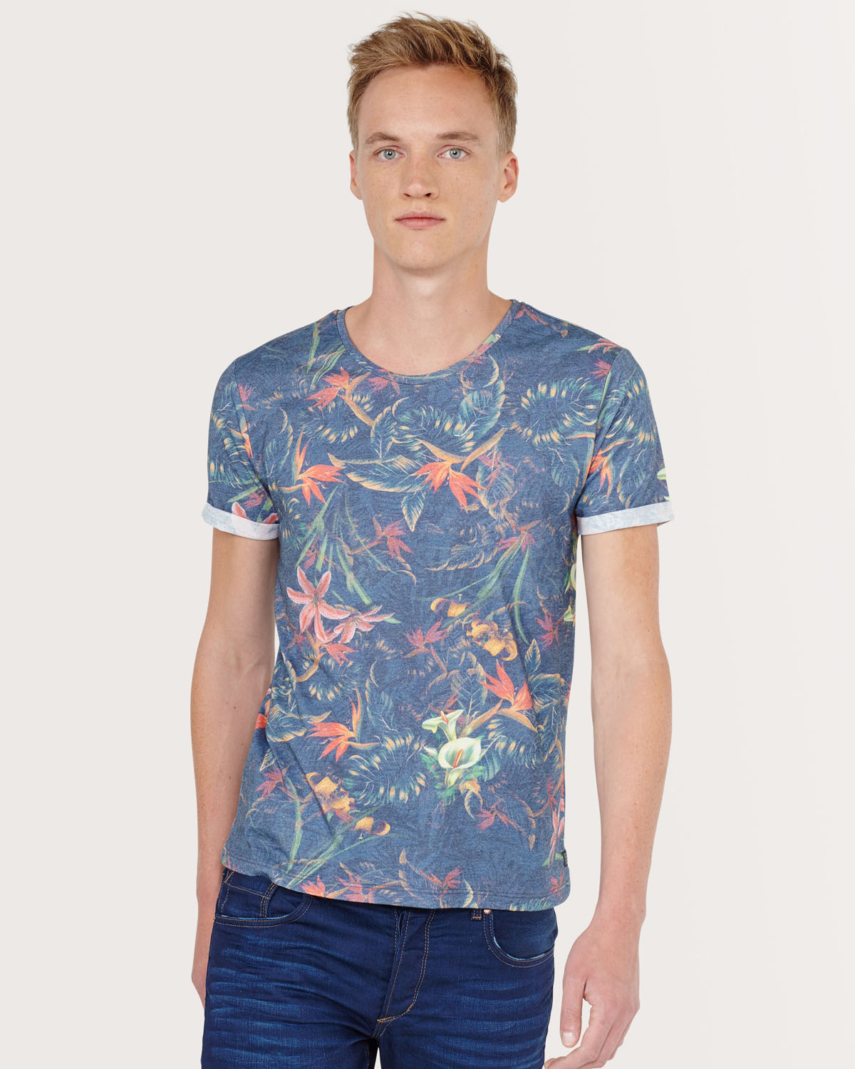 Heren all over floral print t shirt 78999732 we fashion for All over printing t shirts