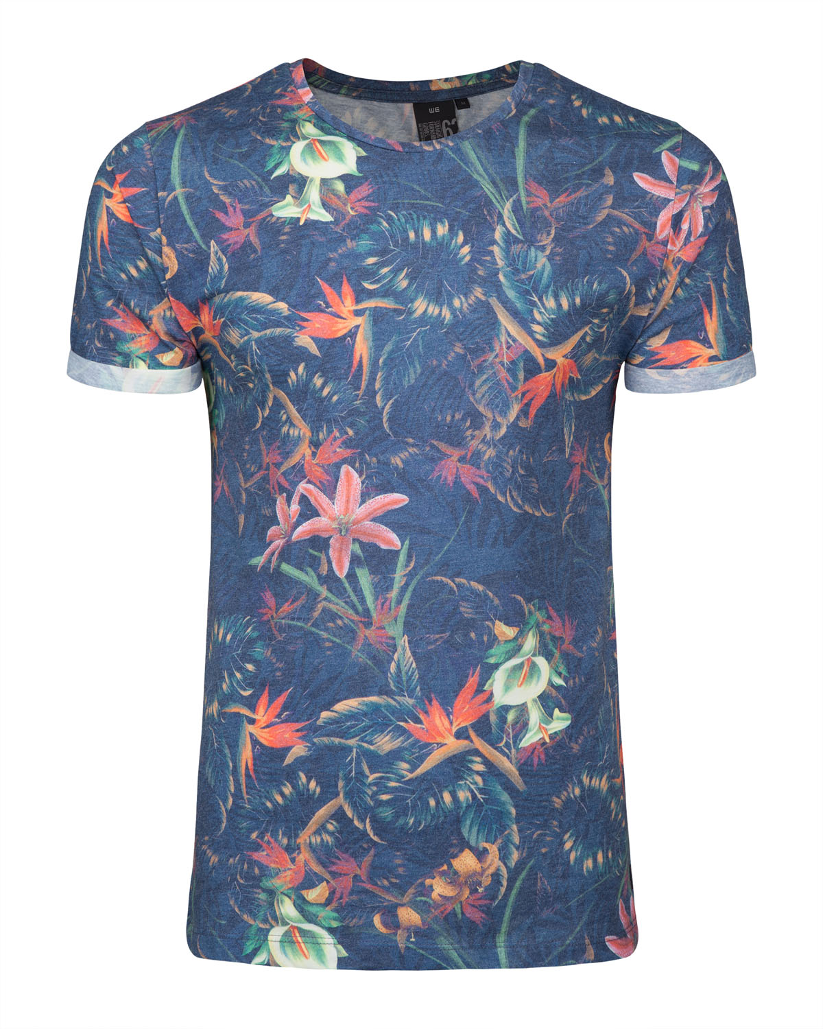 Heren all over flower print t shirt 78899735 we fashion for All over shirt printing