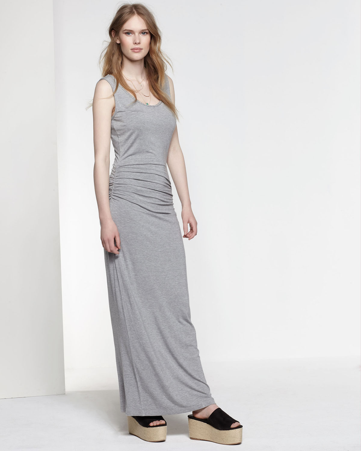 Maxi Jurk Grijs.Dames Braided Maxi Jurk 78786967 We Fashion