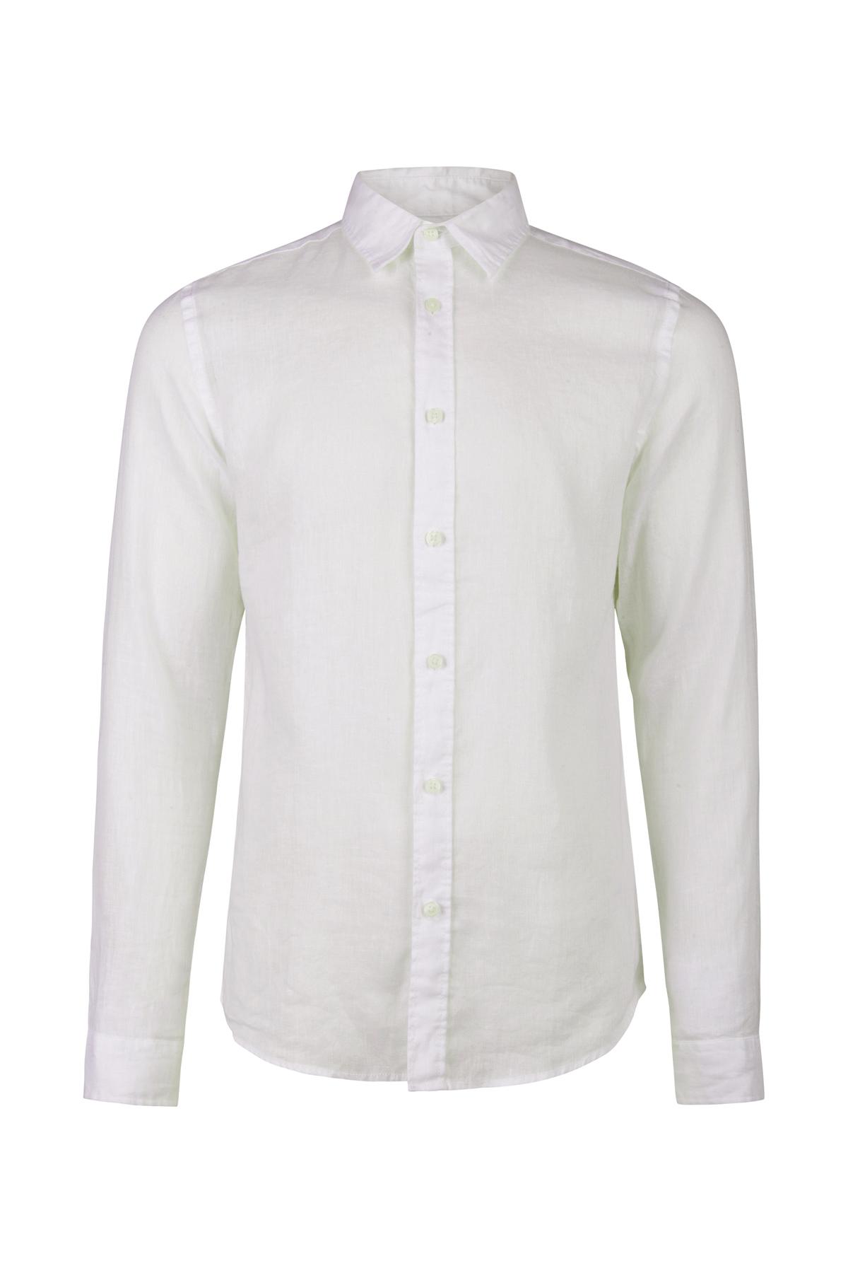 Linnen Overhemd Wit.Heren Slim Fit Linnen Overhemd 94433647 We Fashion