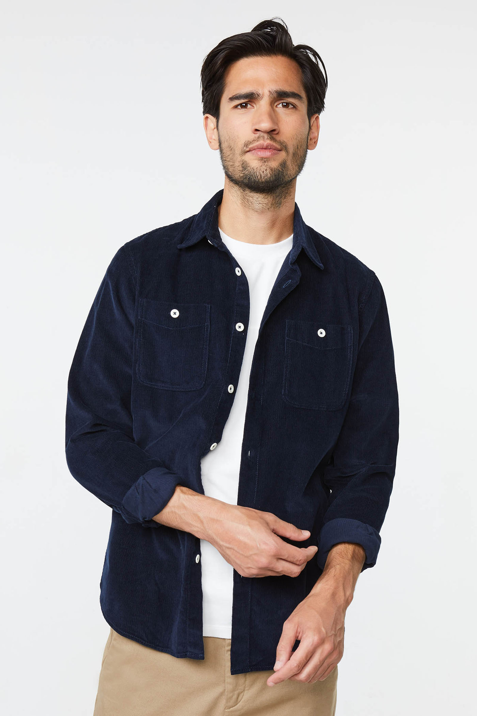 Heren corduroy overhemd   94765649 WE Fashion