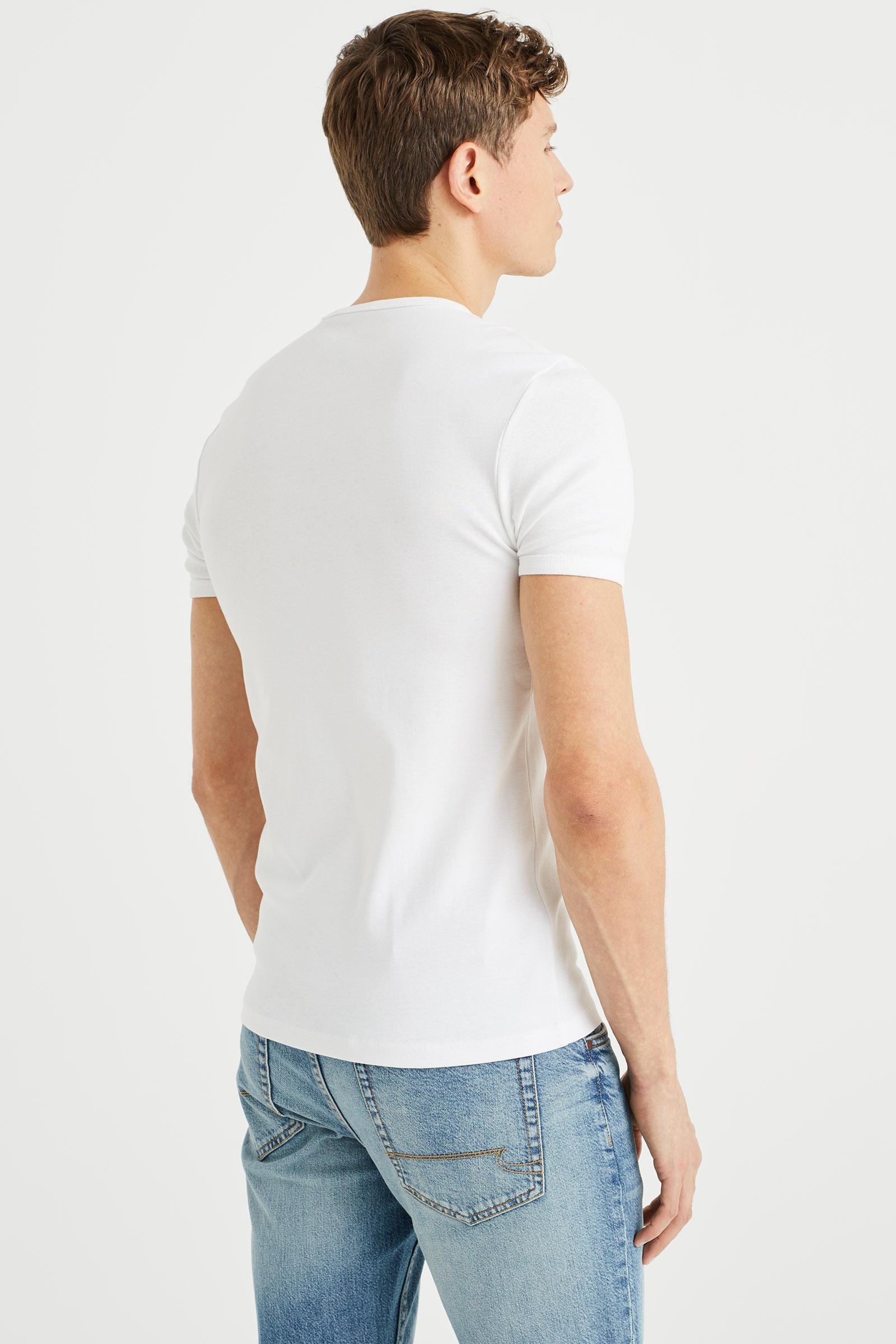 Heren organic cotton t shirt 80379225 we fashion for Natural cotton t shirts