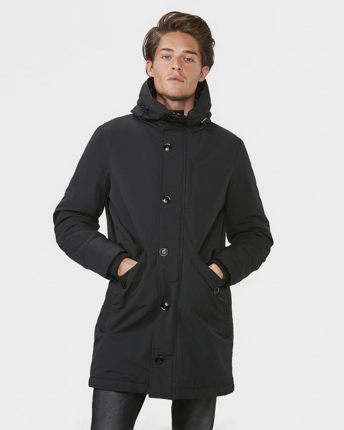 heren hooded parka 79362207 we fashion. Black Bedroom Furniture Sets. Home Design Ideas
