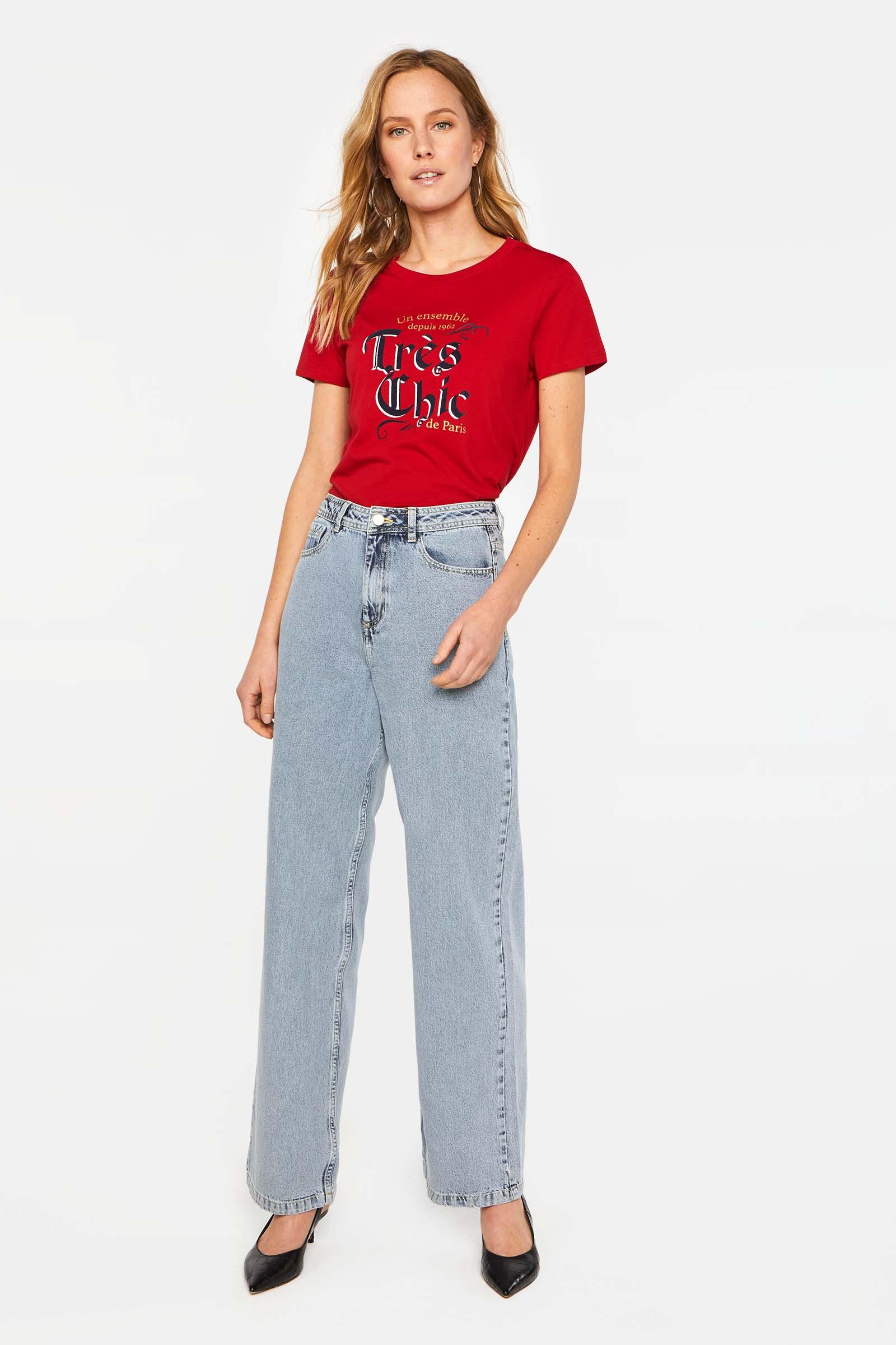 Dames high rise wide leg jeans | 95310978 WE Fashion