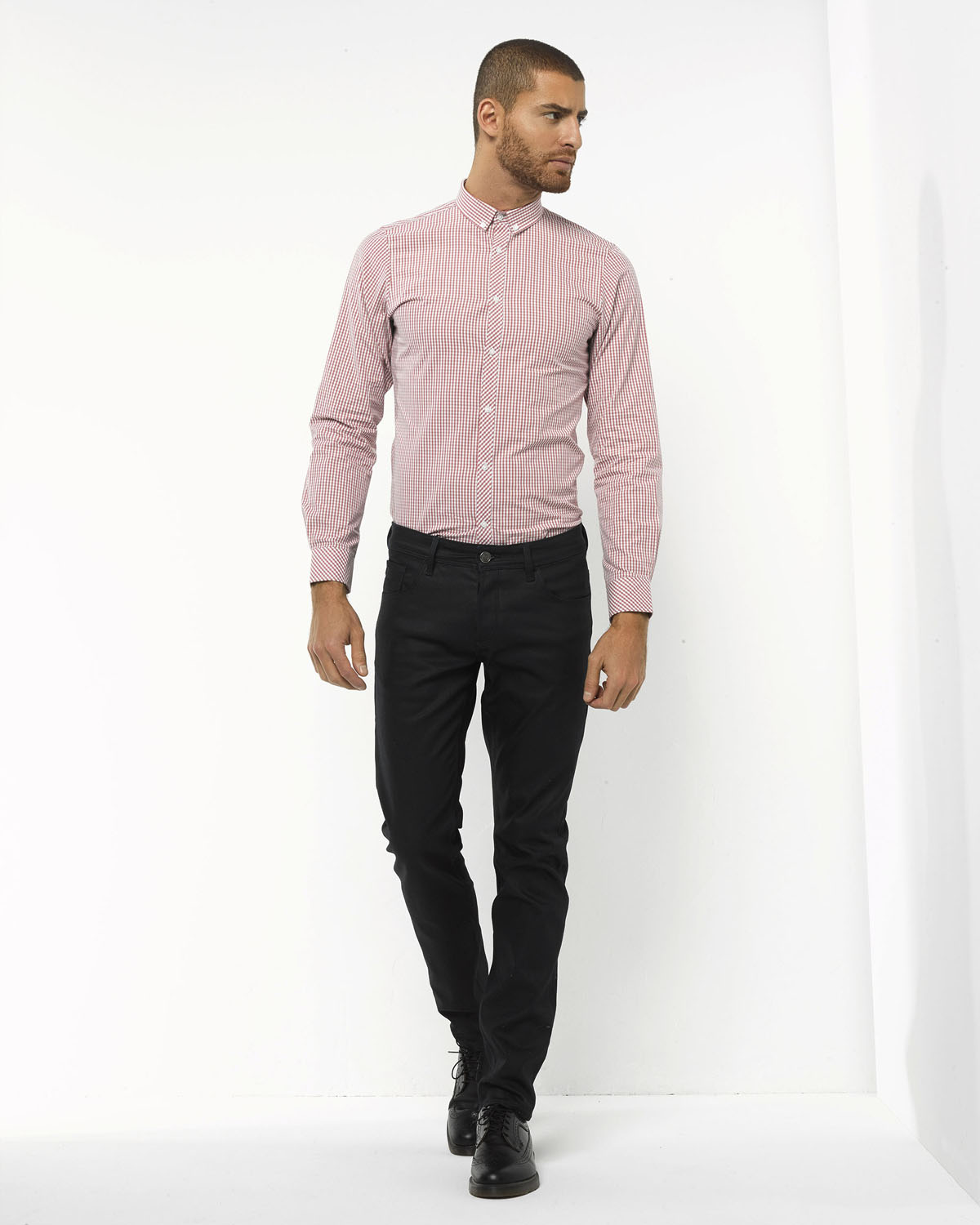 Roze Heren Overhemd.Heren Slim Fit Overhemd 78537385 We Fashion