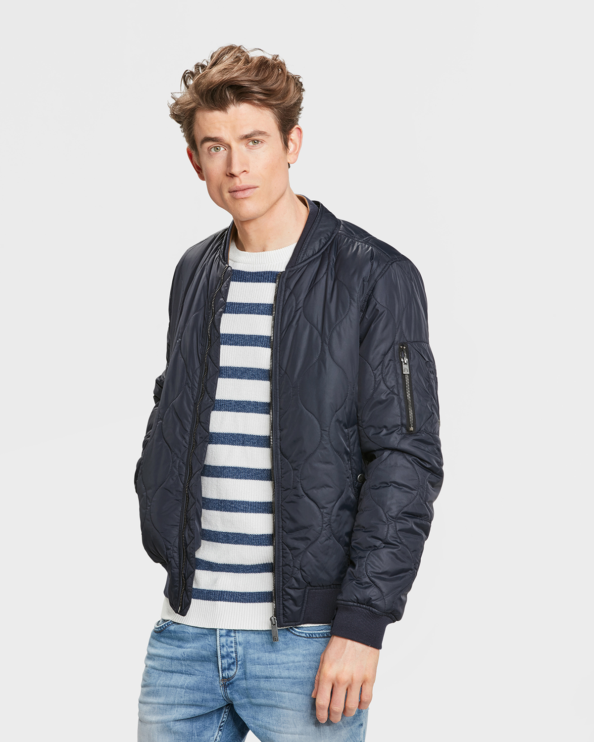 Heren Quilted Bomber Jacket 79950305 We Fashion