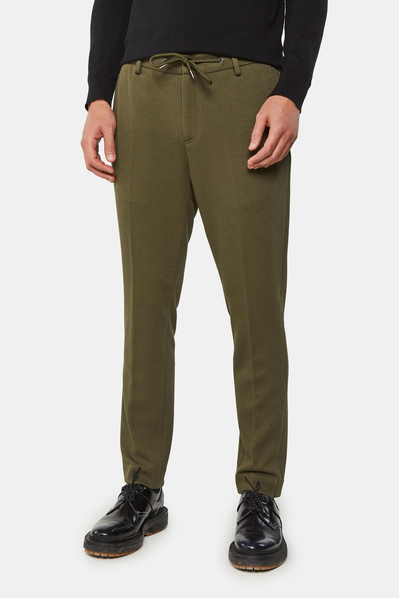 Heren cropped jogpantalon met structuur | 95051406 WE Fashion