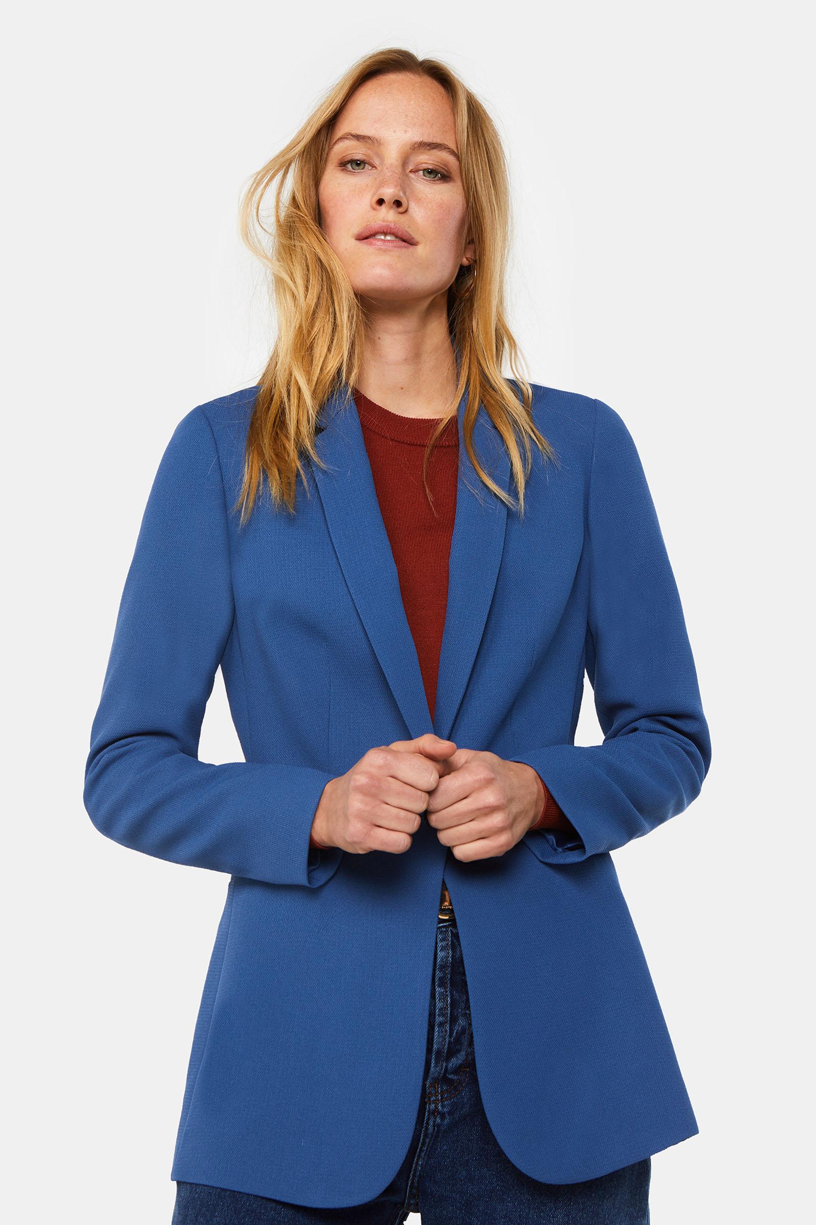 Dames regular fit blazer met structuur | 94932669 WE Fashion