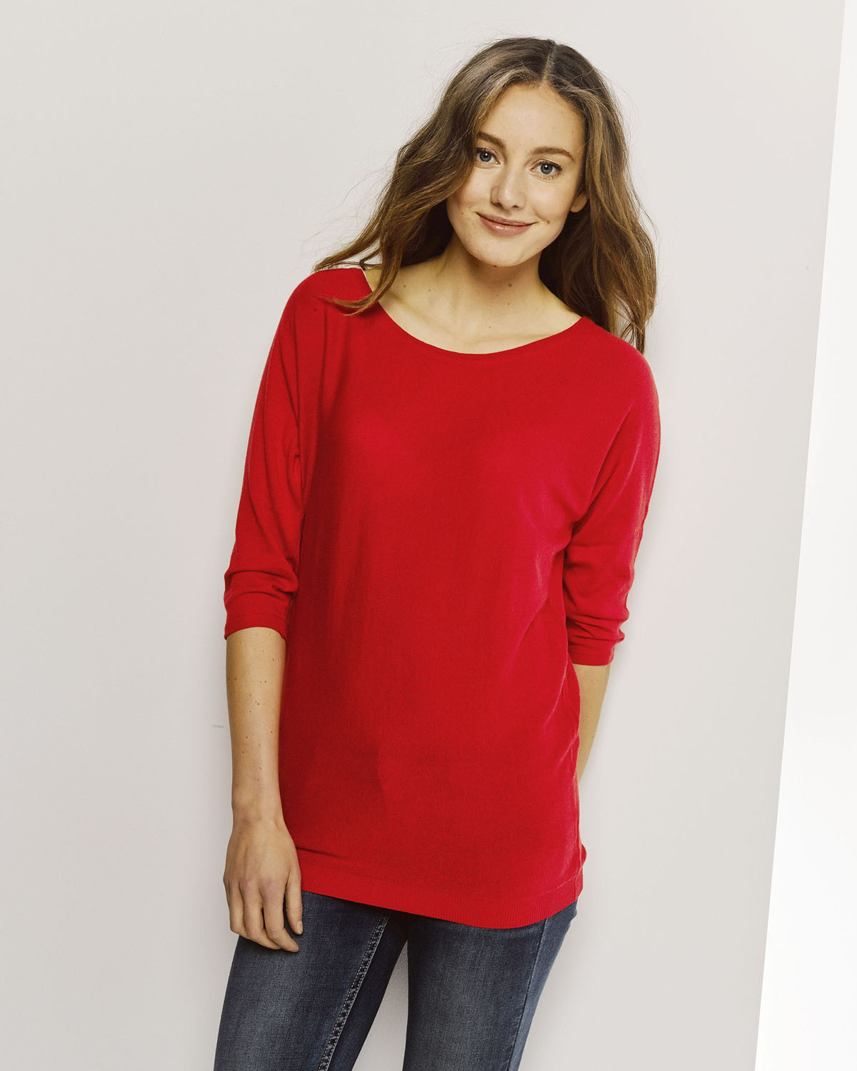 Dames Trui Rood.Dames Oversized Knit Trui 78671911 We Fashion