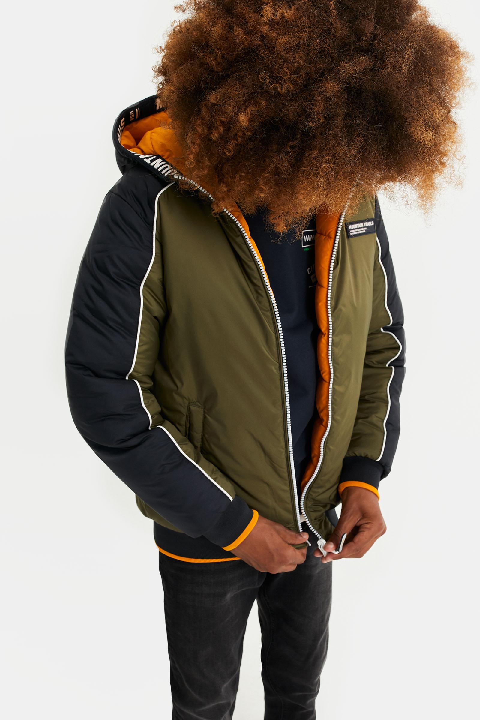 Jongens reversible jacket met capuchon | 95375427 WE Fashion
