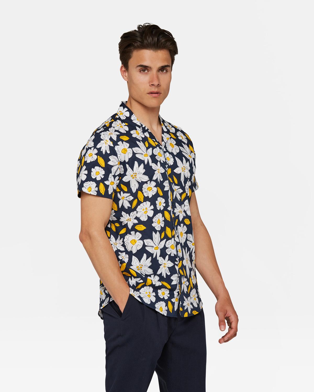 Heren Overhemd Bloemenprint.Heren Bloemenprint Overhemd 94497717 We Fashion