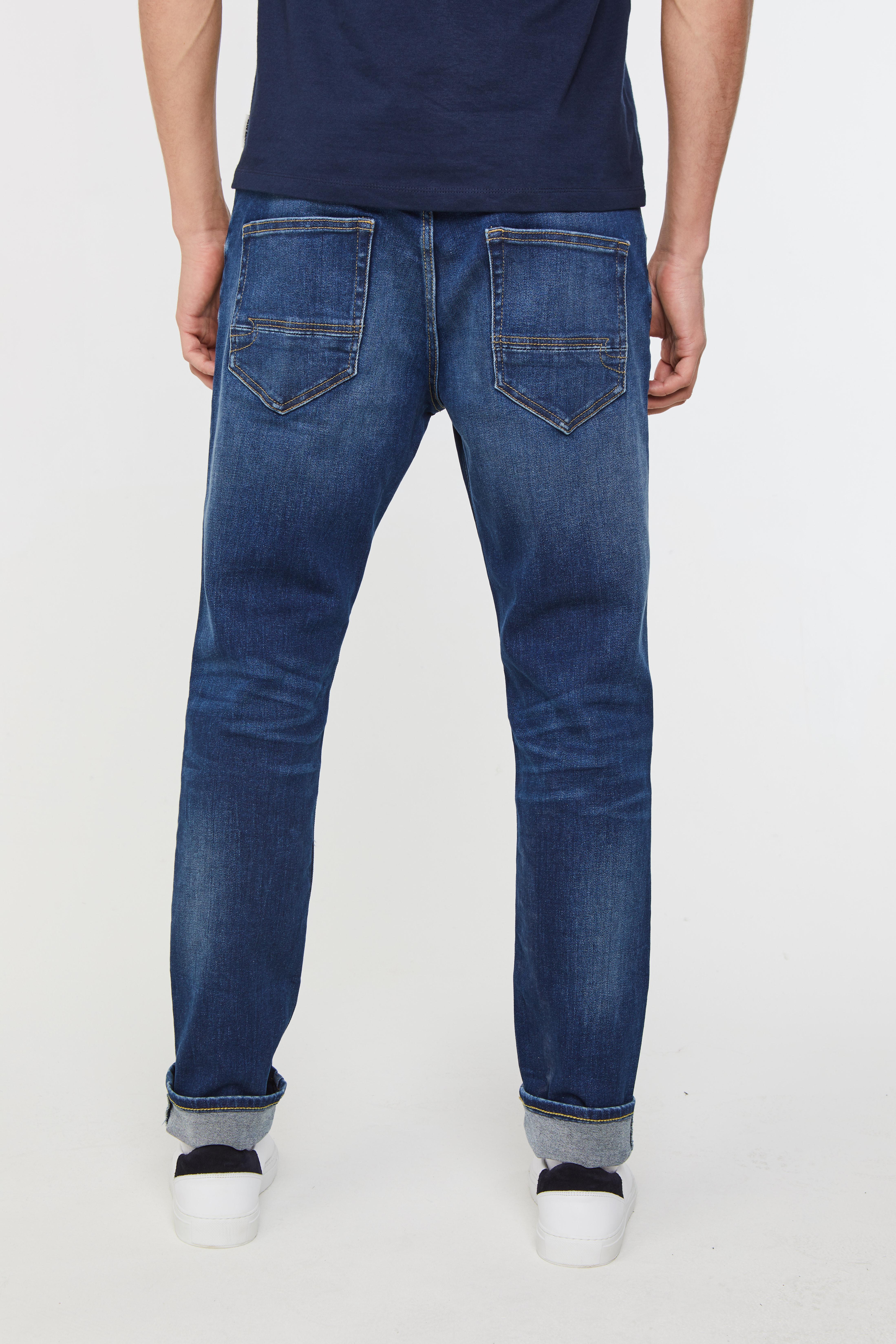Heren slim tapered jog denim jeans | 94610956 WE Fashion