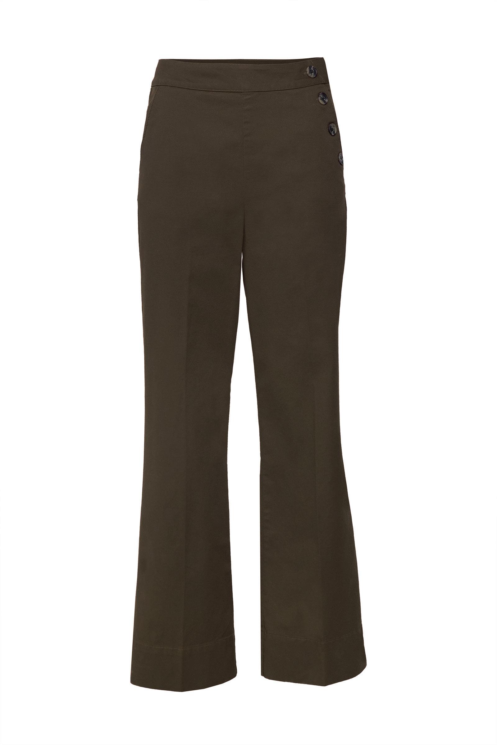 Dames broek met knoopdetail | 95274638 WE Fashion
