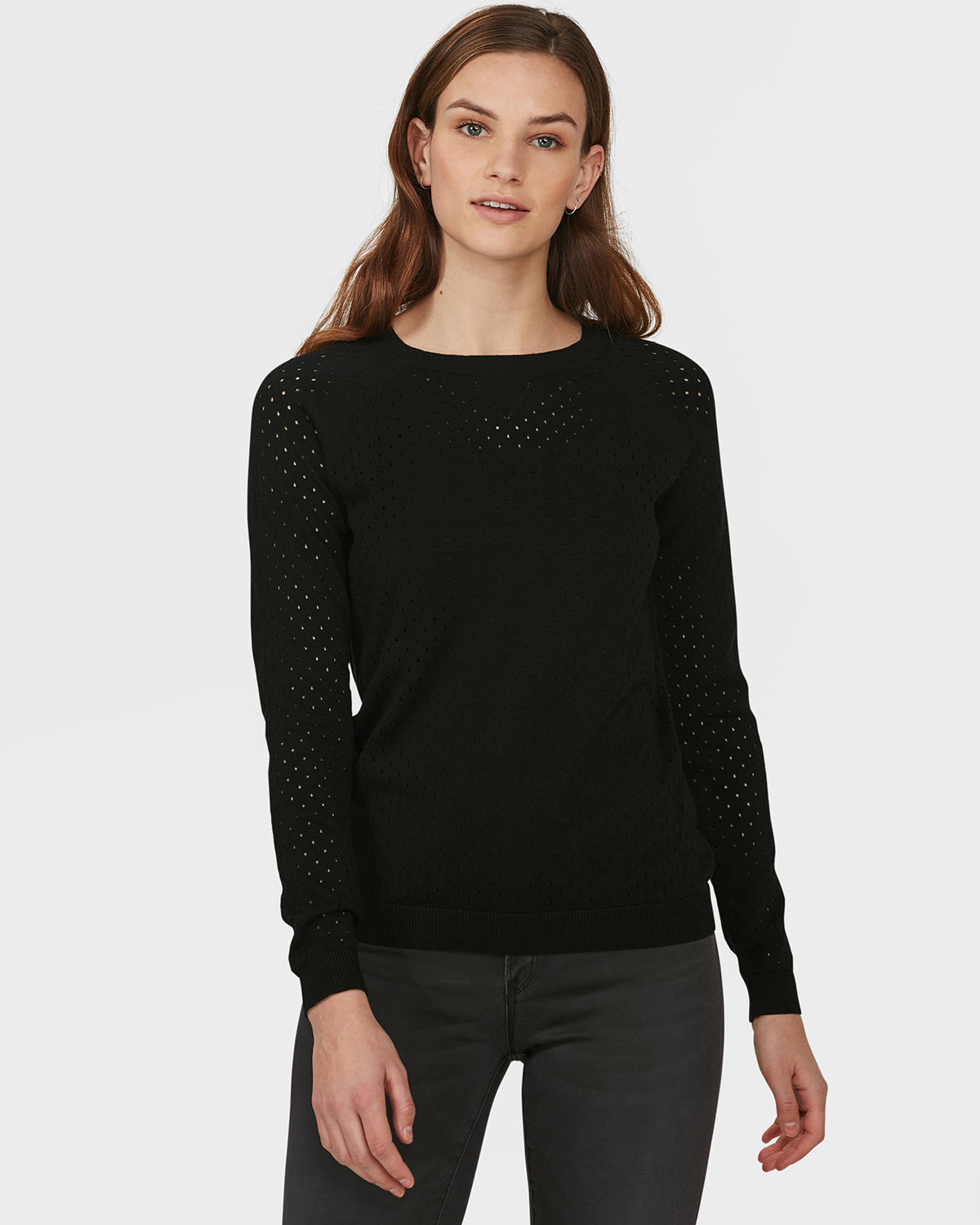 DAMES PERFORATED DESSIN SWEATER | 79592895 WE Fashion