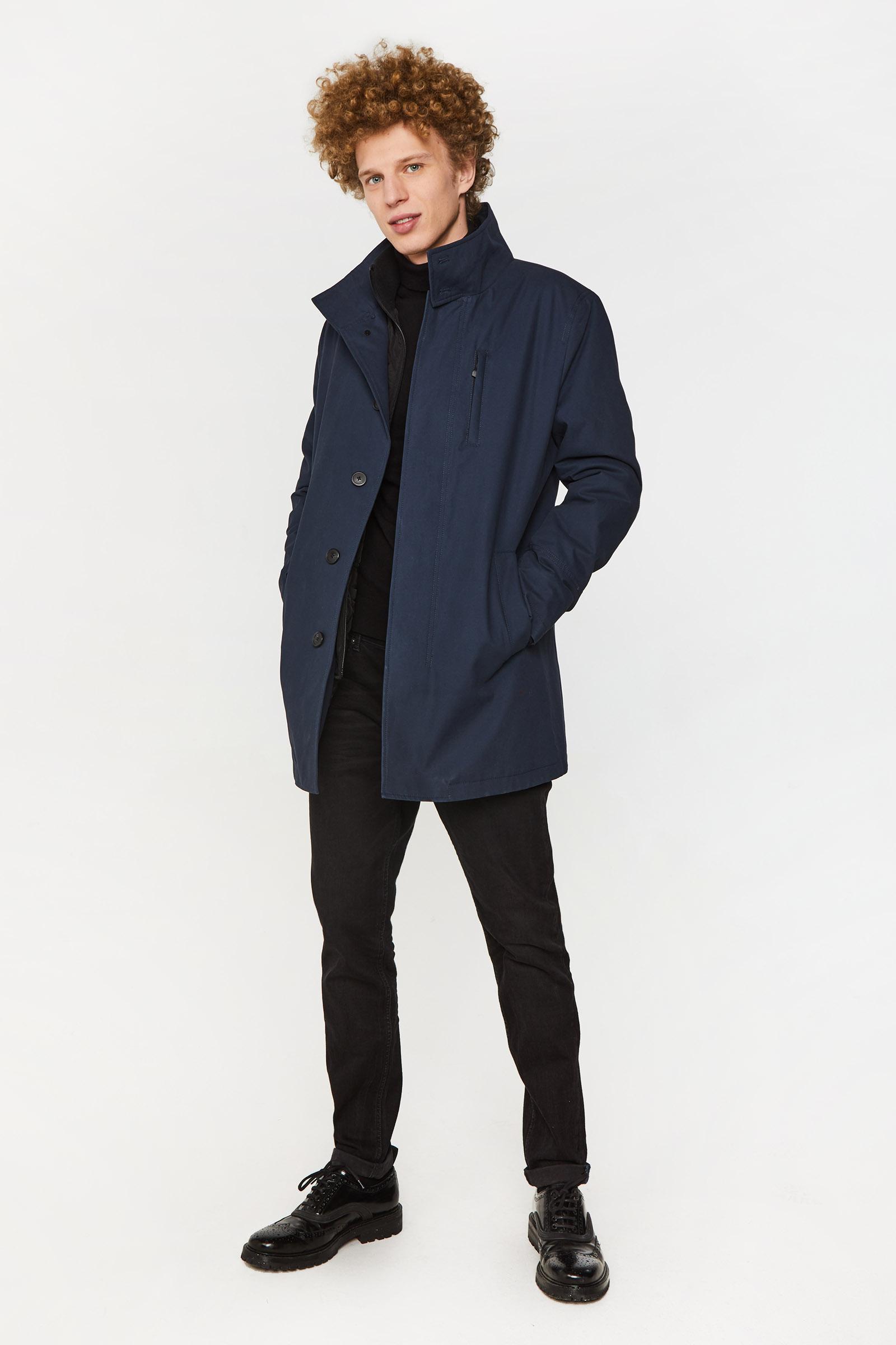 Heren jas met gewatteerde inzet | 94981483 WE Fashion