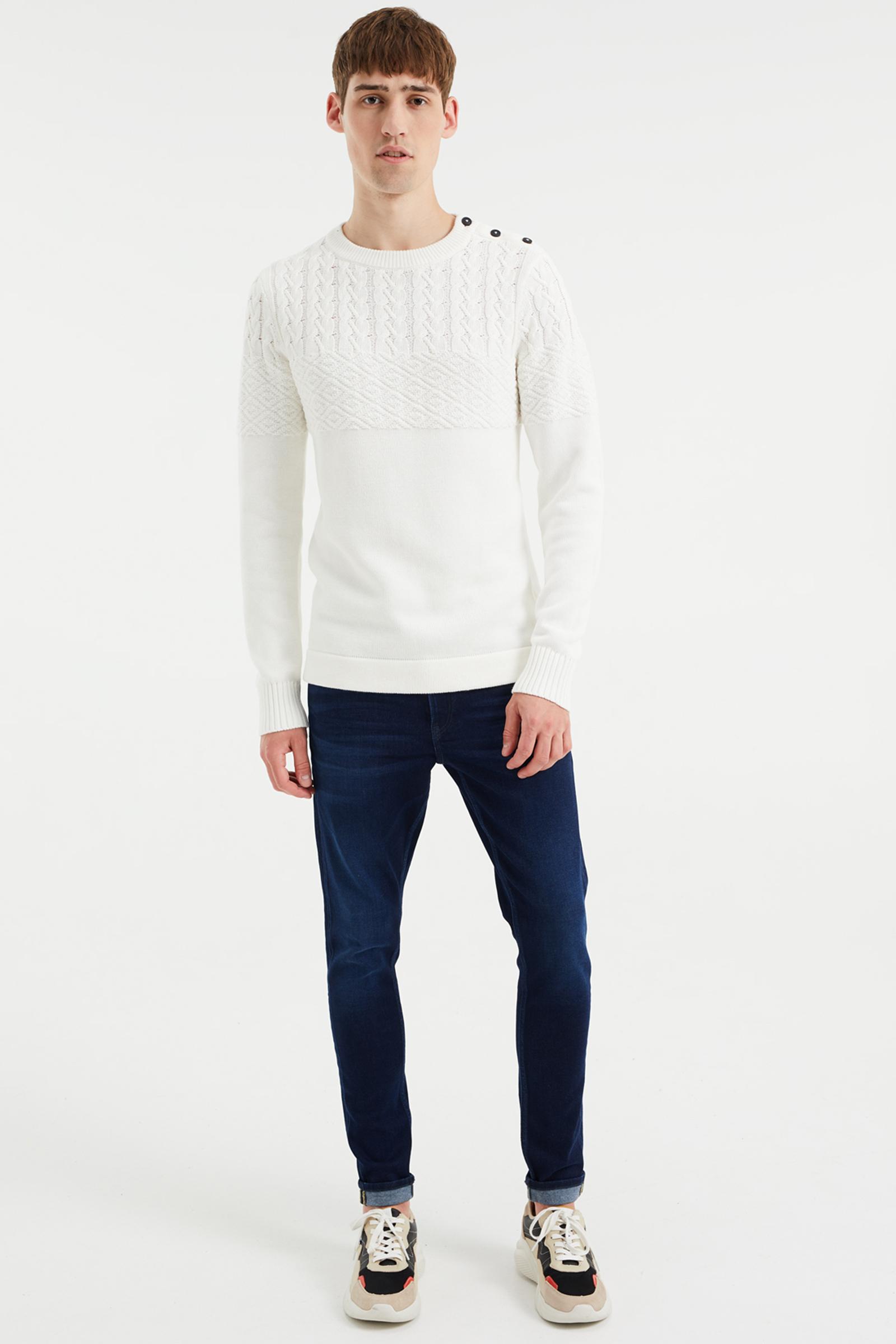 Heren slim fit sweater | 94715736 WE Fashion