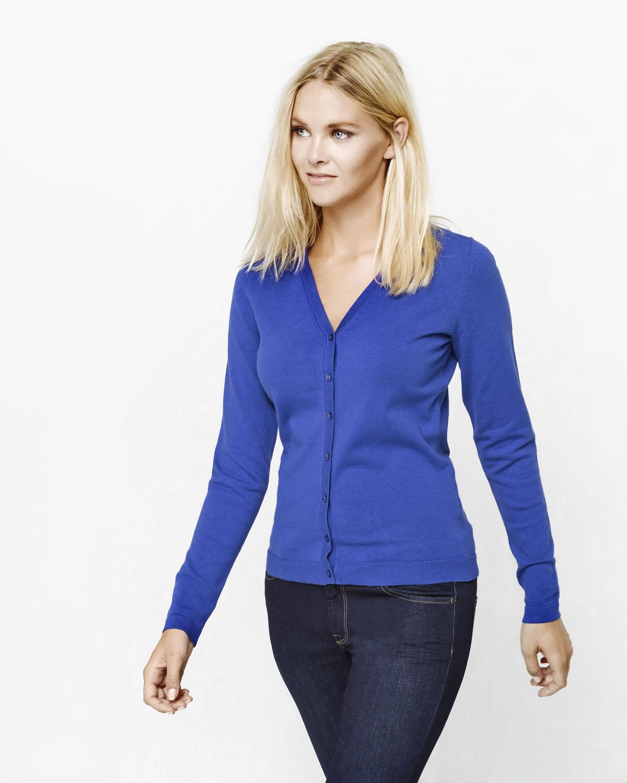 blauw vestje dames