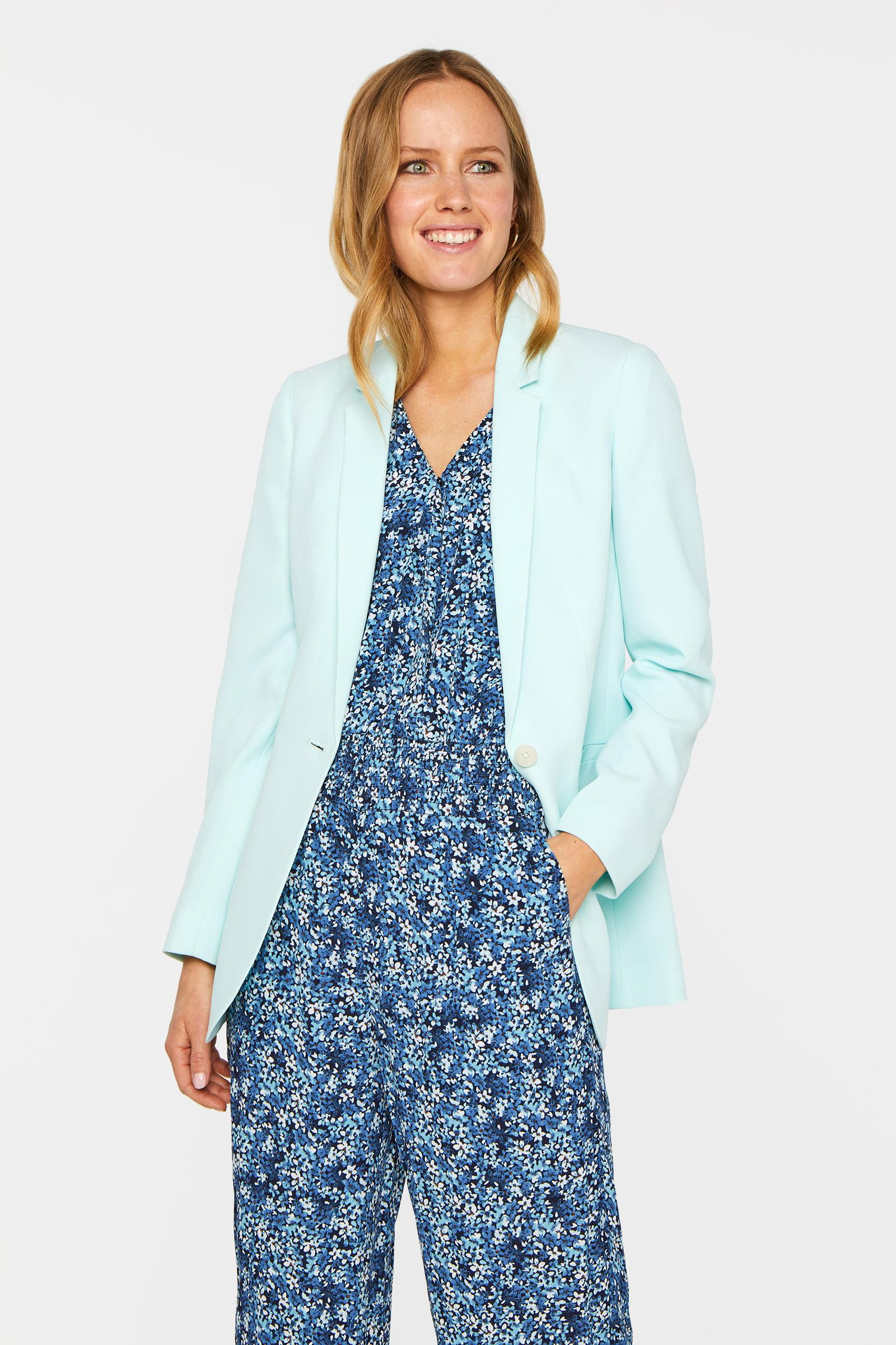 Dames regular fit blazer met structuur | 95064987 WE Fashion