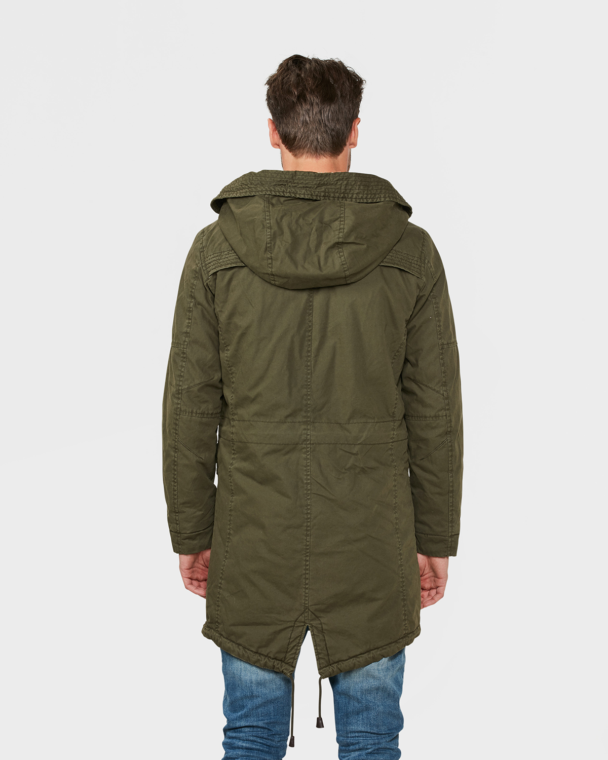 Legergroene Winterjas Heren.Heren Army Green Parka 79361842 We Fashion