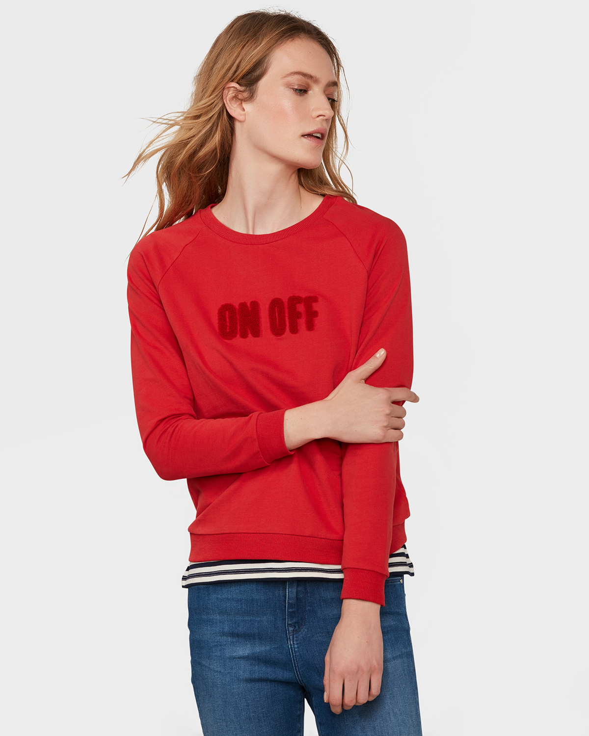 Trui Rood Dames.Dames On Off Sweater 79695589 We Fashion