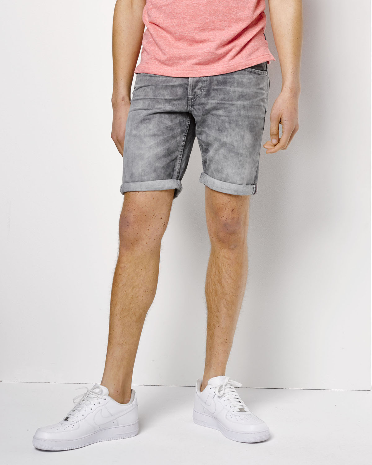 Denim shorts heren