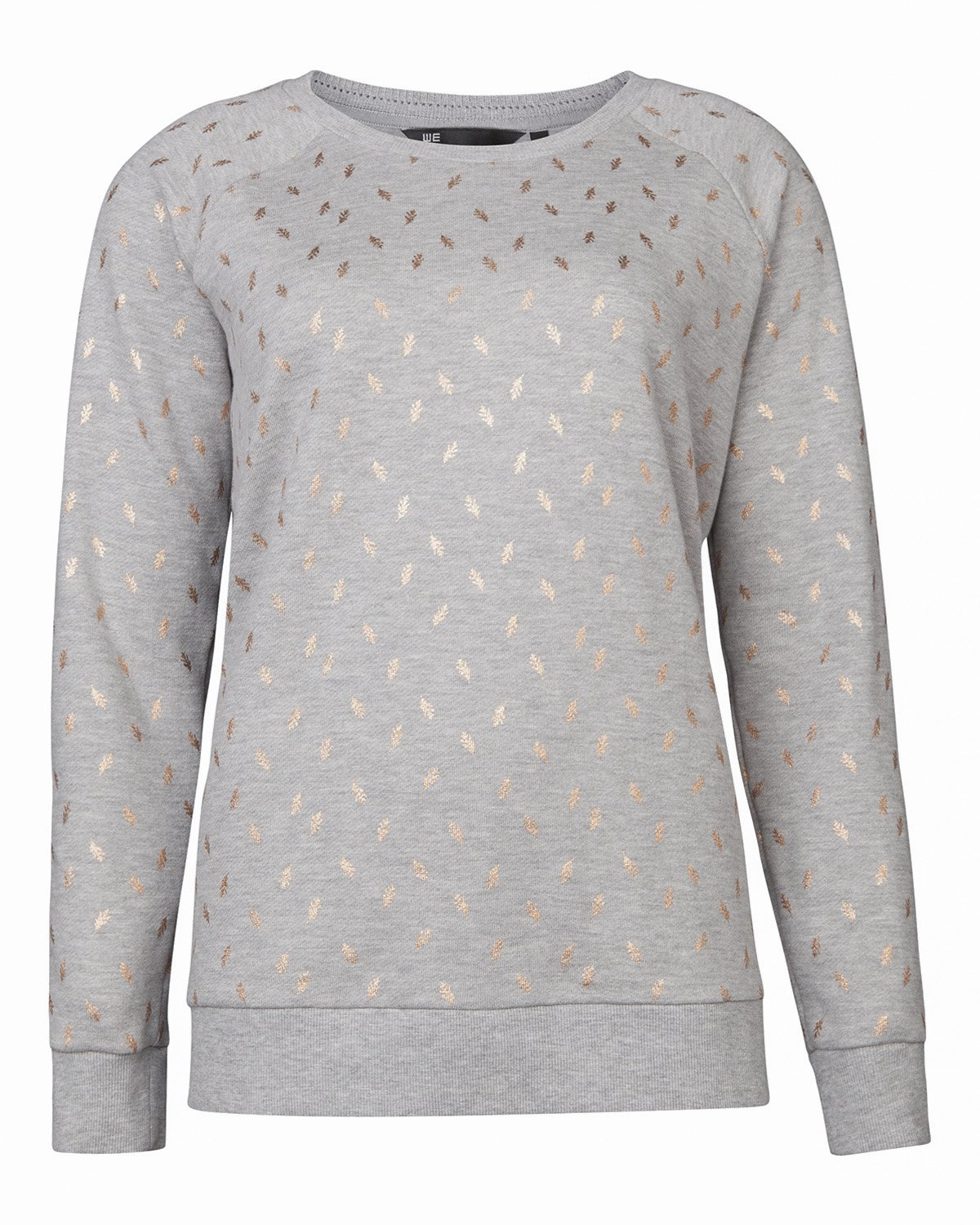 Dames Trui Met Print.Dames Leaf Print Sweater 79563512 We Fashion
