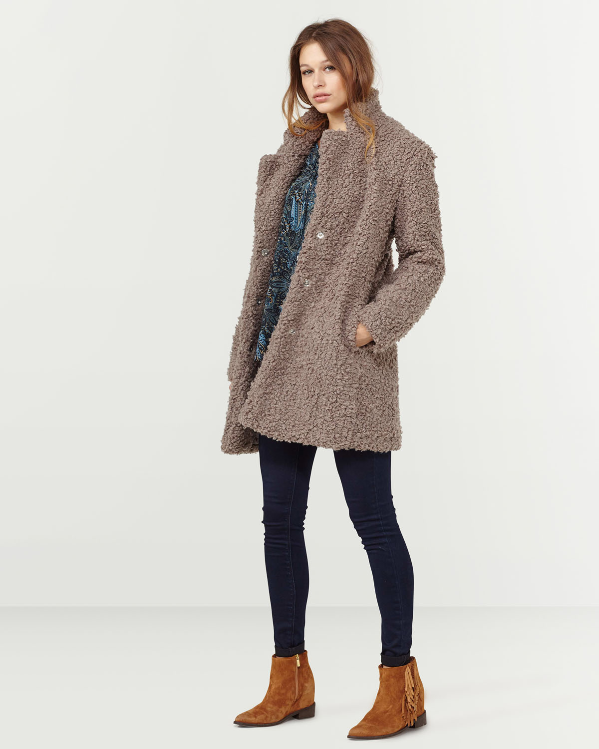 Winterjas Dames Mantel.Dames Teddy Jas 78889781 We Fashion