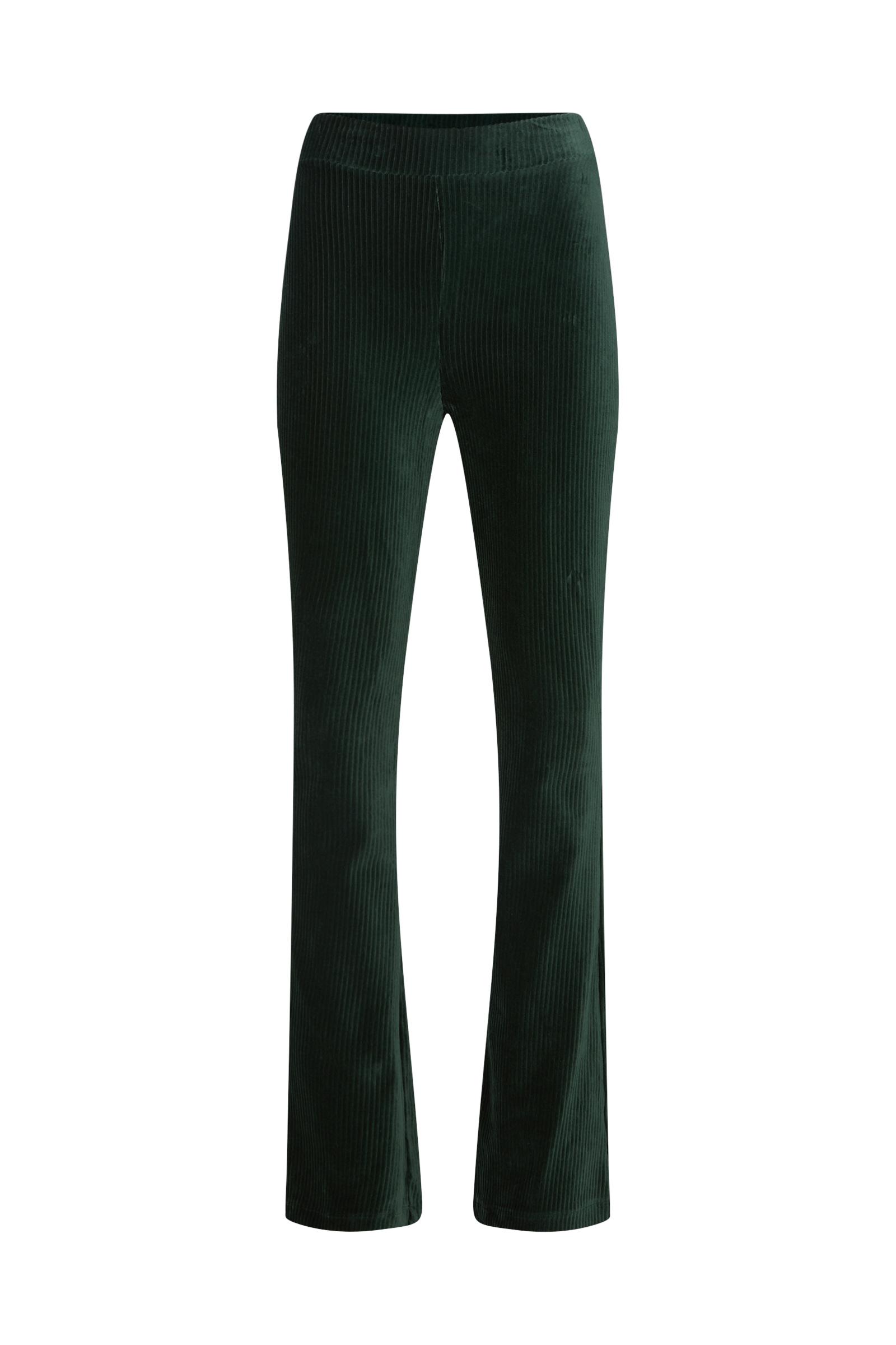 Dames flared broek van ribstof   95354002 WE Fashion